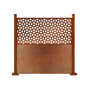 Corten Ellipse Screen Fence - 6ft Tall