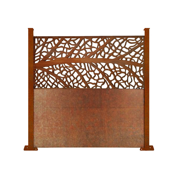 Corten L'Arbre Screen Fence - 6ft Tall