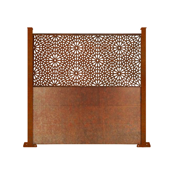 Corten Moucharabiya Screen Fence - 6ft Tall