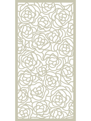 Cream designer floral design Hana screen by Screen With Envy