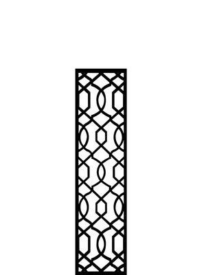 Black Helix geometric garden trellis by Screen With Envy