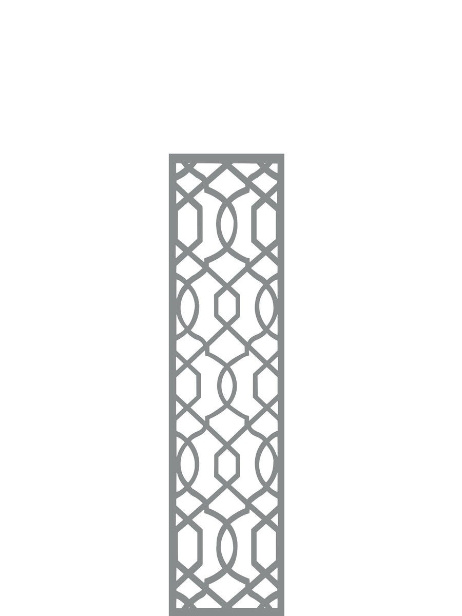 Helix Garden Trellis -Dove Grey - 4ft x 1ft