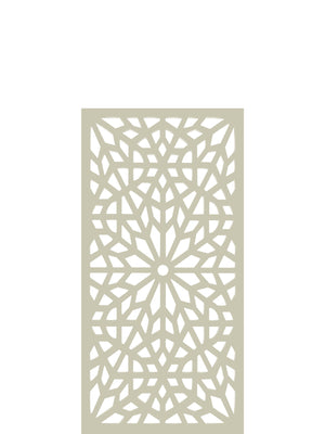 Cream geometric design Kaleidoscope screen detail by Screen With Envy