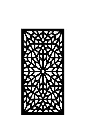 Black designer Kaleidoscope geometric screen detail by Screen With Envy