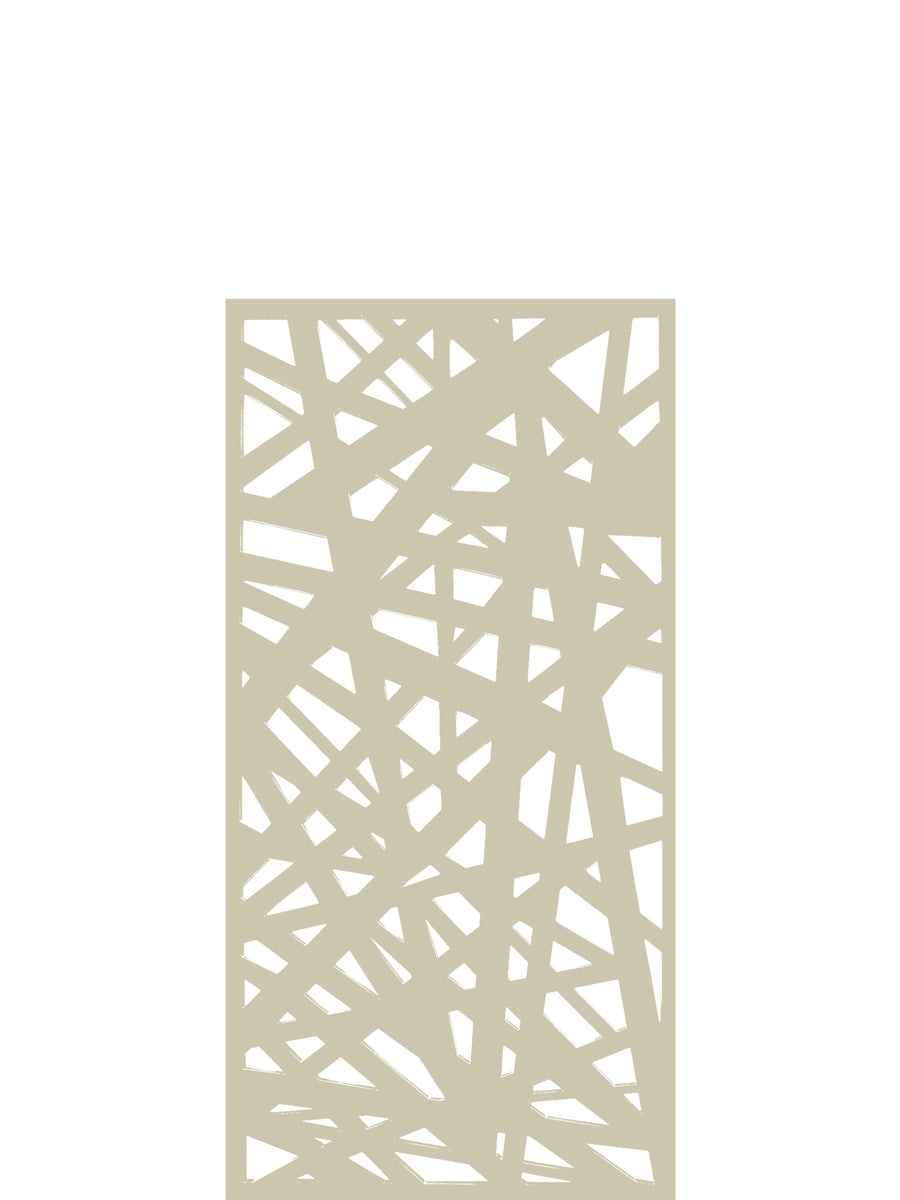 Kerplunk Medium Garden Screen - Cream - 4ft x 2ft