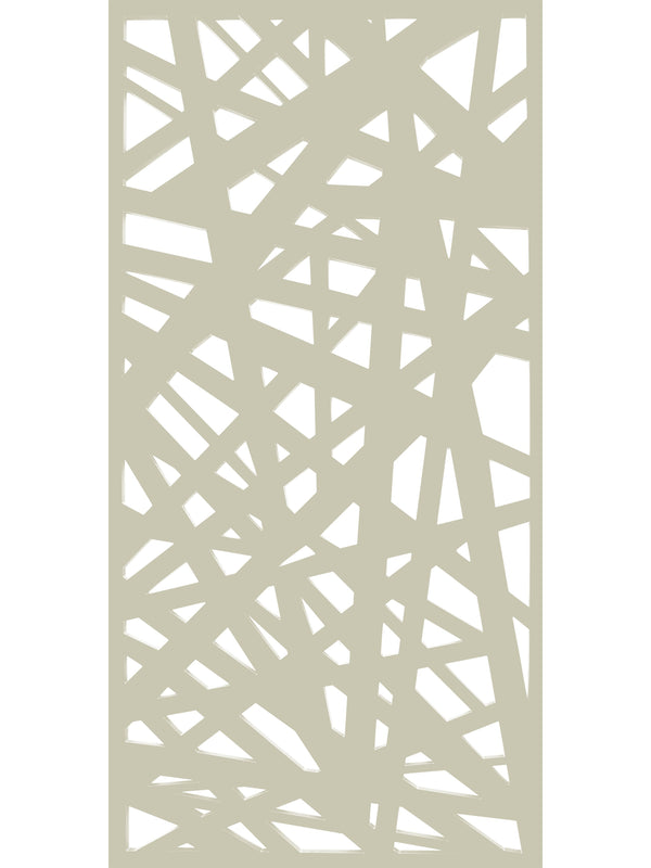 Modern garden screen panel by Screen With Envy in cream