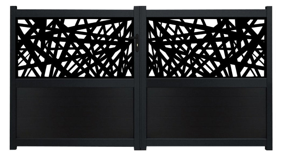 Kerplunk Screen Sliding Driveway Gate - Black