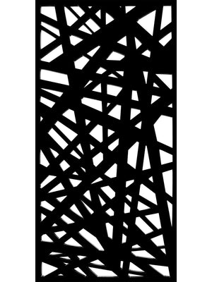Modern garden screen panel by Screen With Envy in black