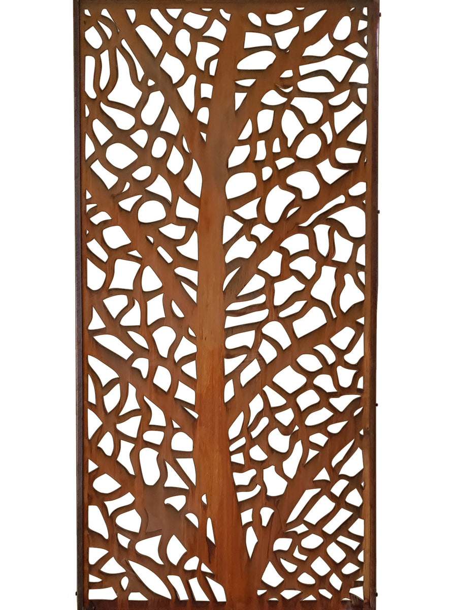 L'Arbre Corten metal screen 180 x 90