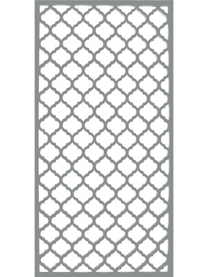 Souk - Dove Grey - Large Garden Trellis