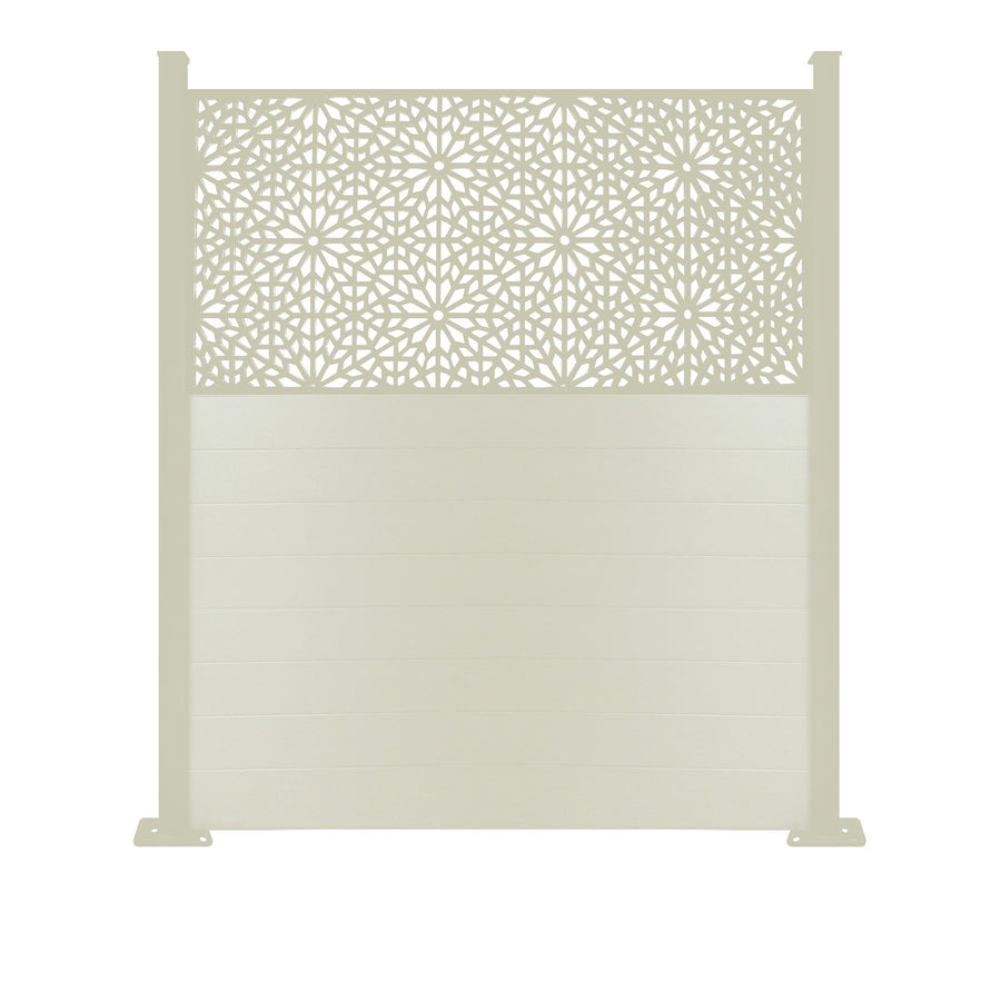Moucharabiya Screen Fence - Cream - 6ft