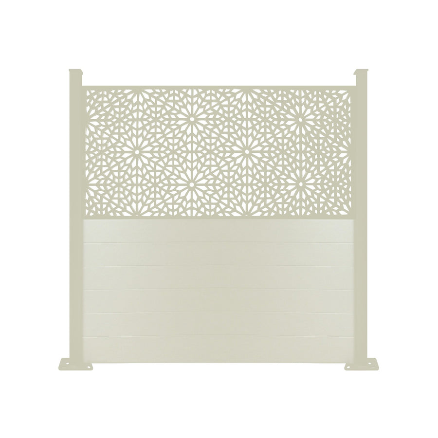 Moucharabiya Screen Fence - Cream - 7ft