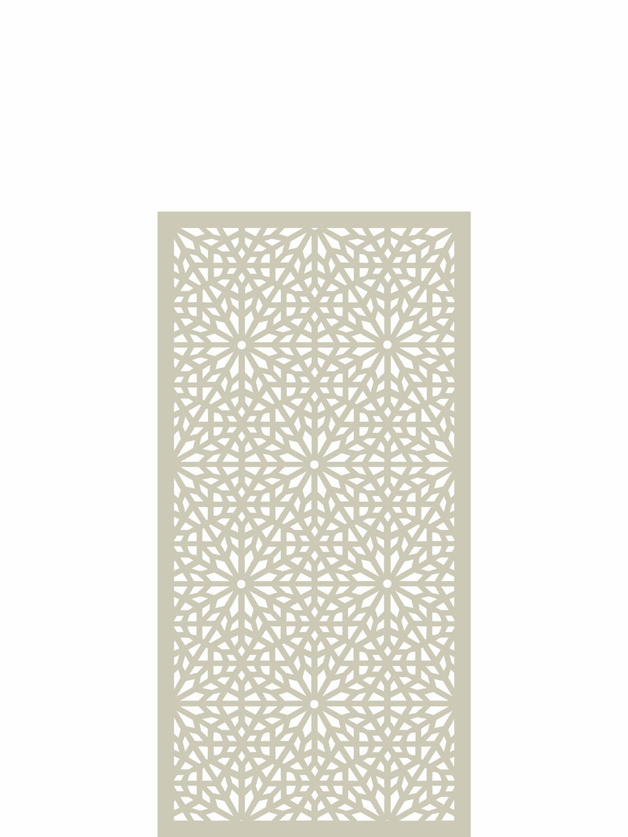 Moucharabiya Medium Screen - Cream - 4ft x 2ft