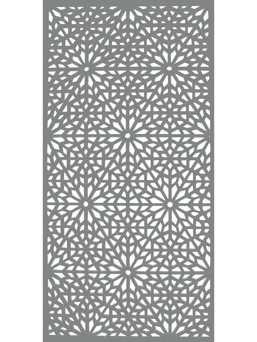 Moucharabiya - Dove Grey - Large Garden Screen