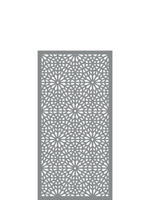 Moucharabiya Medium Screen - Dove Grey - 4ft x 2ft