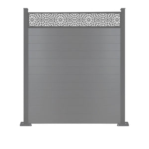 Moucharabiya Fence - Anthracite Grey - 6ft