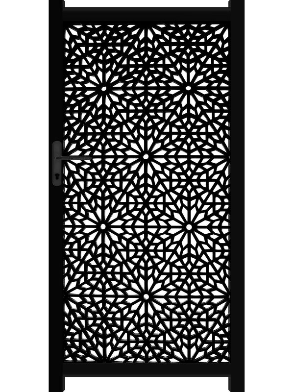 Moucharabiya Screen Gate - Black - 4ft height