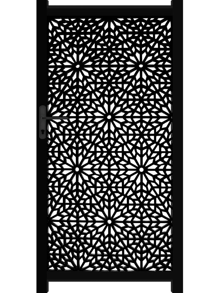 Moucharabiya Screen Gate - Black