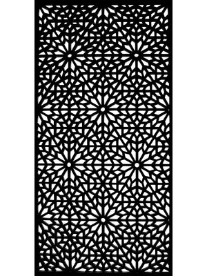 Black designer geometric screen by Screen With Envy detail