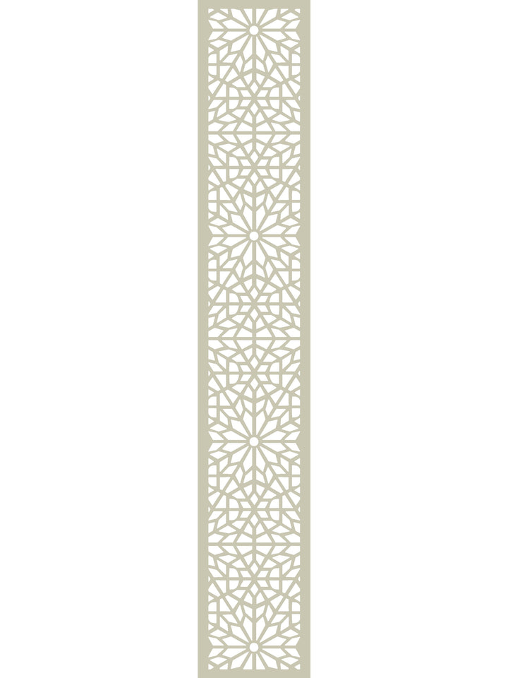 Moucharabiya Garden Trellis - Cream - 6ft x 1ft