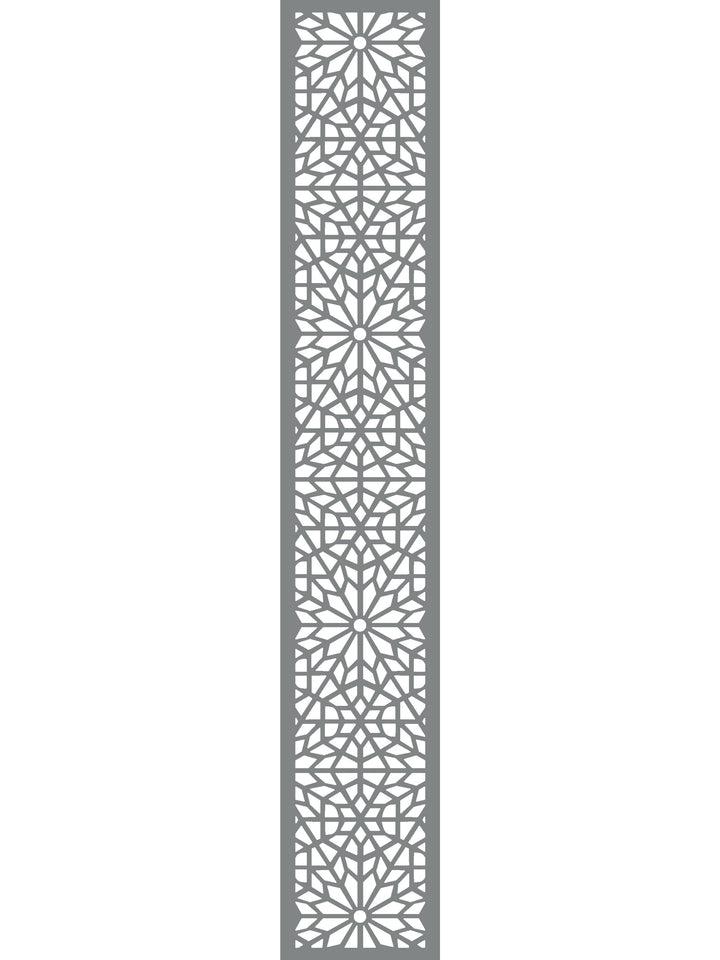 Moucharabiya Garden Trellis - Dove Grey - 6ft x 1ft