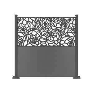 Bloom Black Screen Fence - 7ft