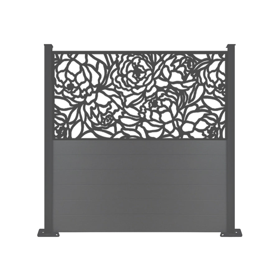 Bloom Black Screen Fence - 6ft