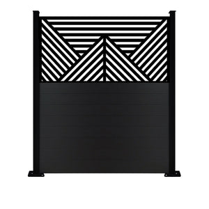 Vector Black Screen Fence - 7ft