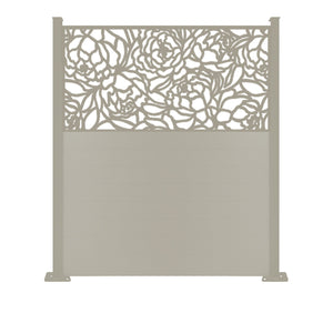 Bloom Dove Grey Screen Fence - 6ft