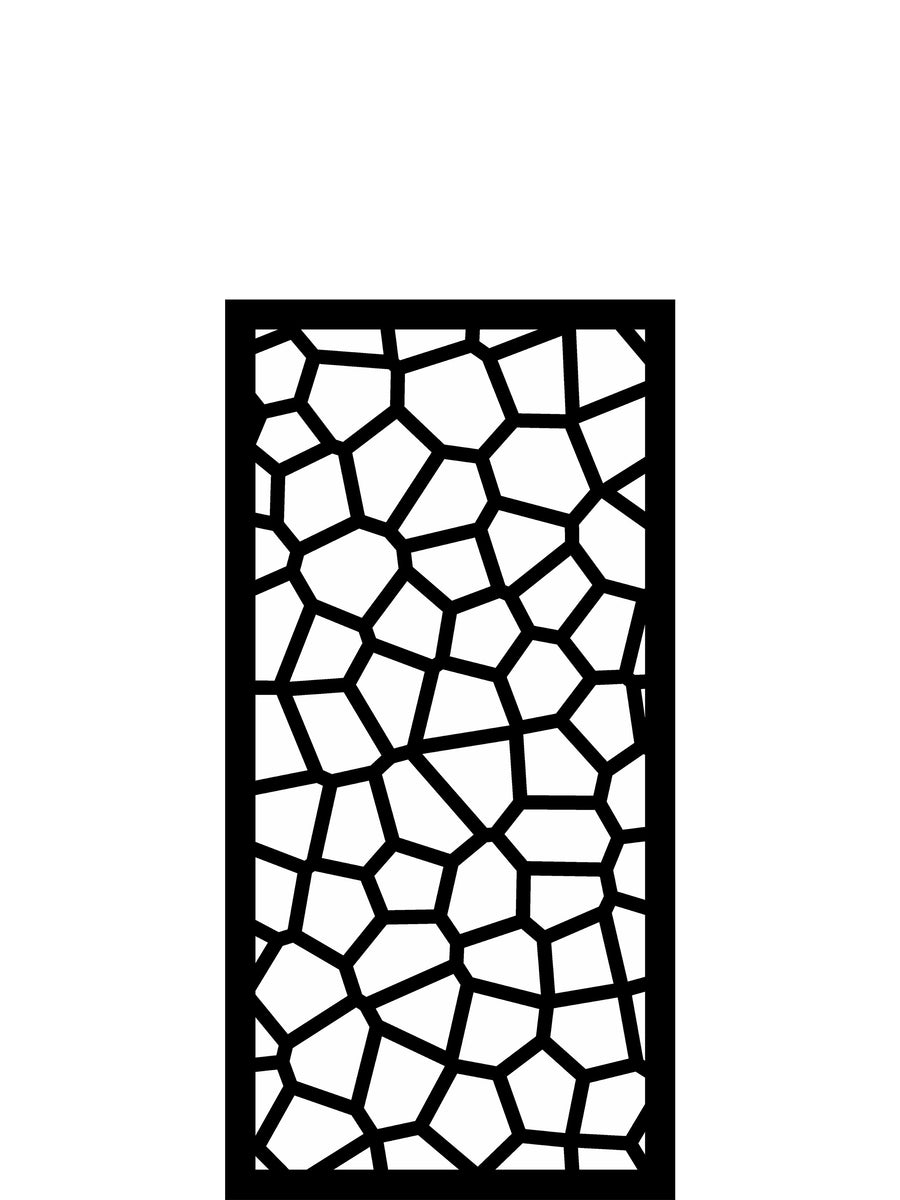Modern garden trellis by Screen With Envy in black geometric pattern