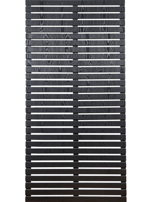 Slatted screen kits and slatted screen fence panels in black