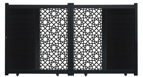Alhambra Vertical Sliding Screen Driveway Gate - Anthracite