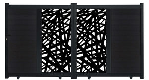 Kerplunk Vertical Screen Driveway Gate - Black