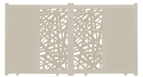 Kerplunk Vertical Sliding Screen Driveway Gate - Cream