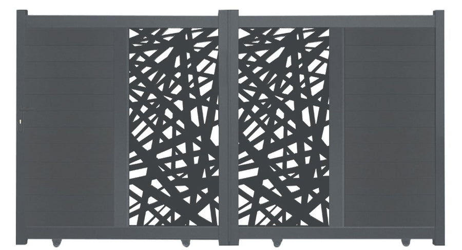 Kerplunk Vertical Screen Driveway Gate - Cream