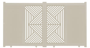 Vector Vertical Sliding Screen Driveway Gate - Cream