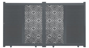 Moucharabiya Vertical Sliding Screen Driveway Gate - Anthracite
