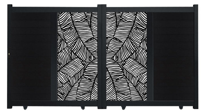 Verdure Vertical Sliding Screen Driveway Gate - Anthracite