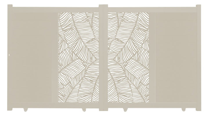 Verdure Vertical Sliding Screen Driveway Gate - Cream