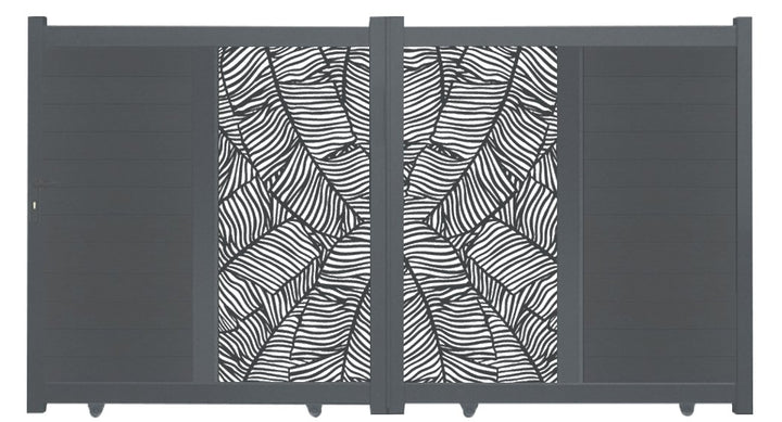 Verdure Vertical Sliding Screen Driveway Gate - Dove Grey