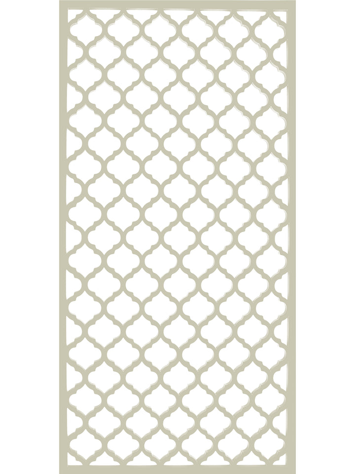 Large cream designer geometric Souk screen by Screen With Envy