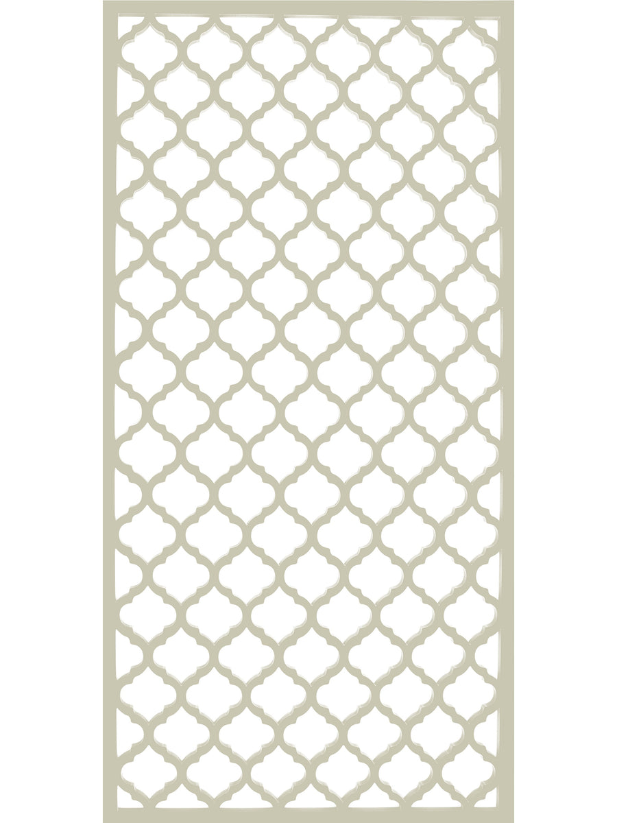 Cream Moroccan inspired garden screen by Screen With Envy