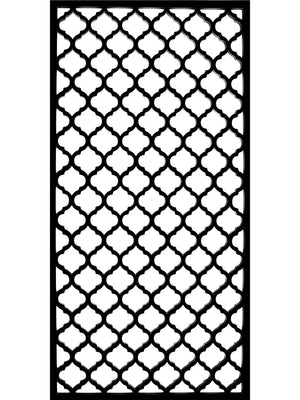 Black Moroccan inspired designer screen detail by Screen With Envy