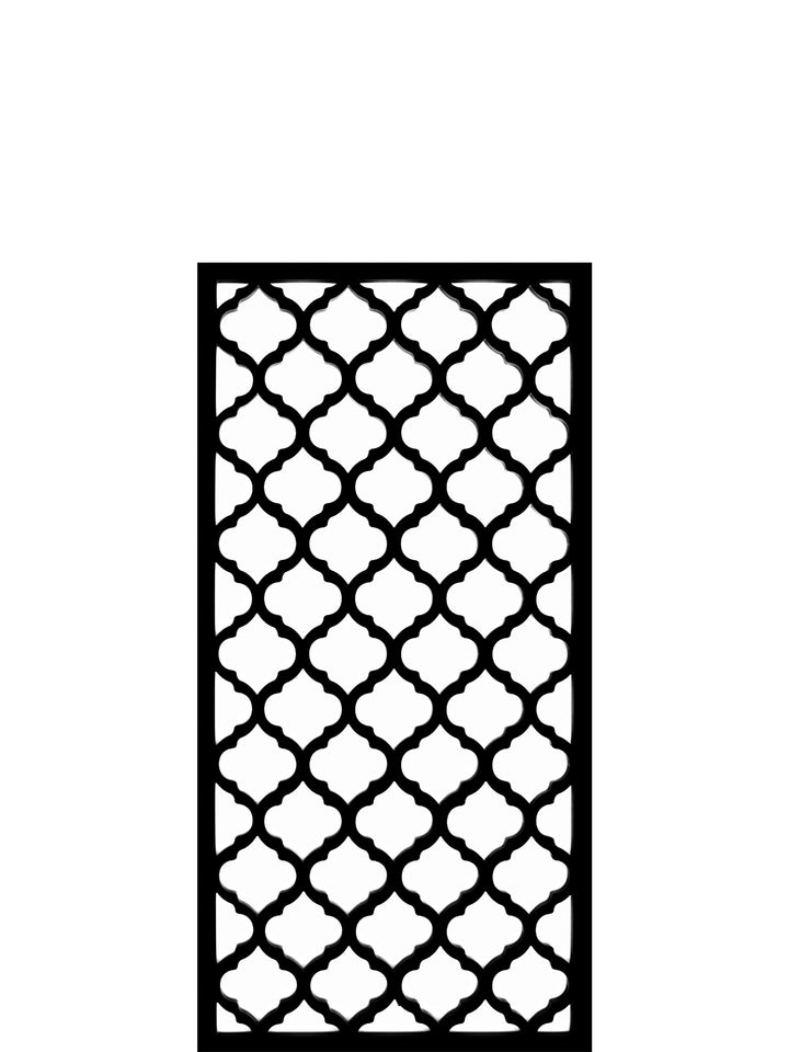 Designer trellis wall art by Screen With Envy in Souk pattern