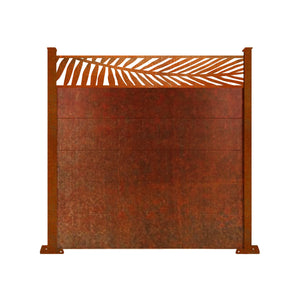 Corten Frond Fence - 6ft Tall