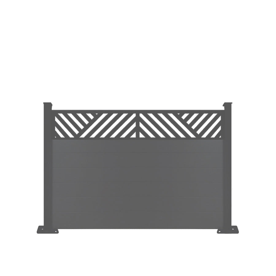 Vector Fence - Dove Grey - 4ft Tall