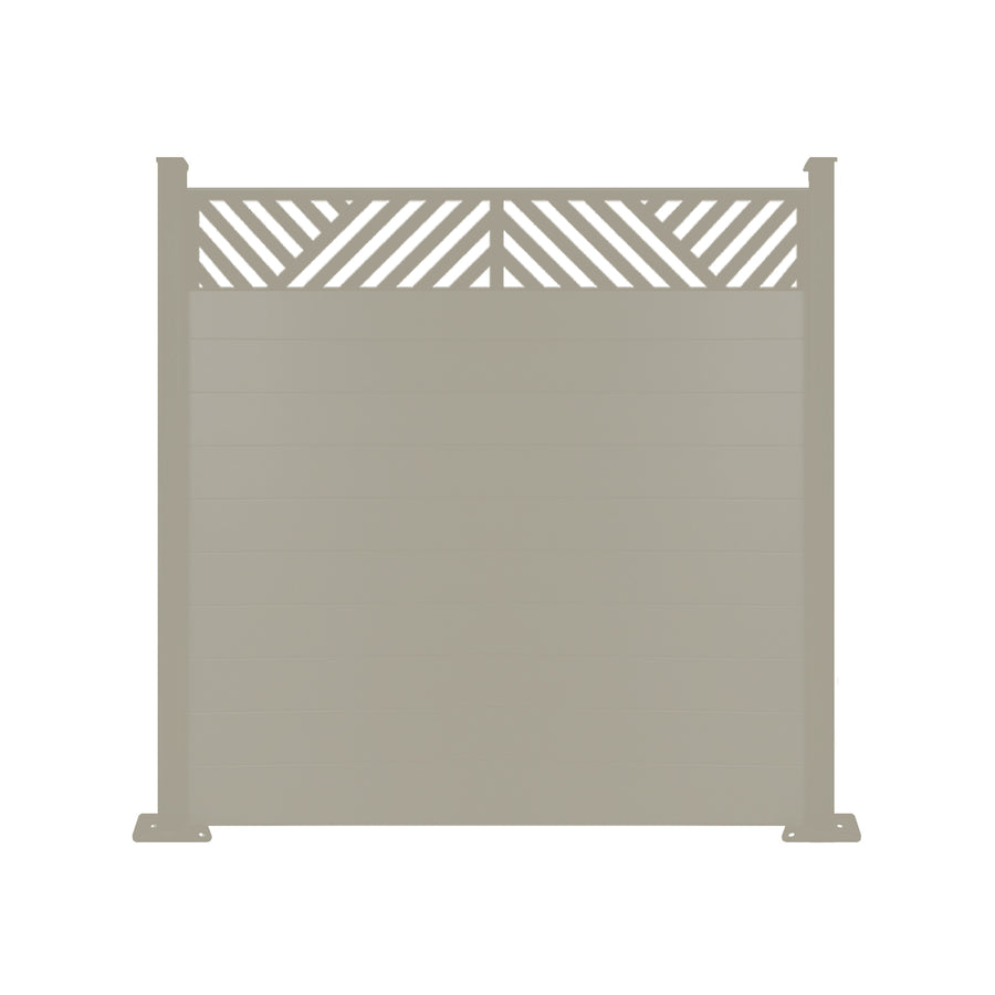 Vector Fence - Dove Grey - 7ft Tall