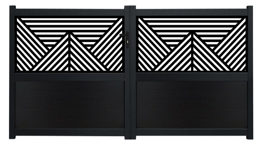 Vector Screen Driveway Gate - Anthracite