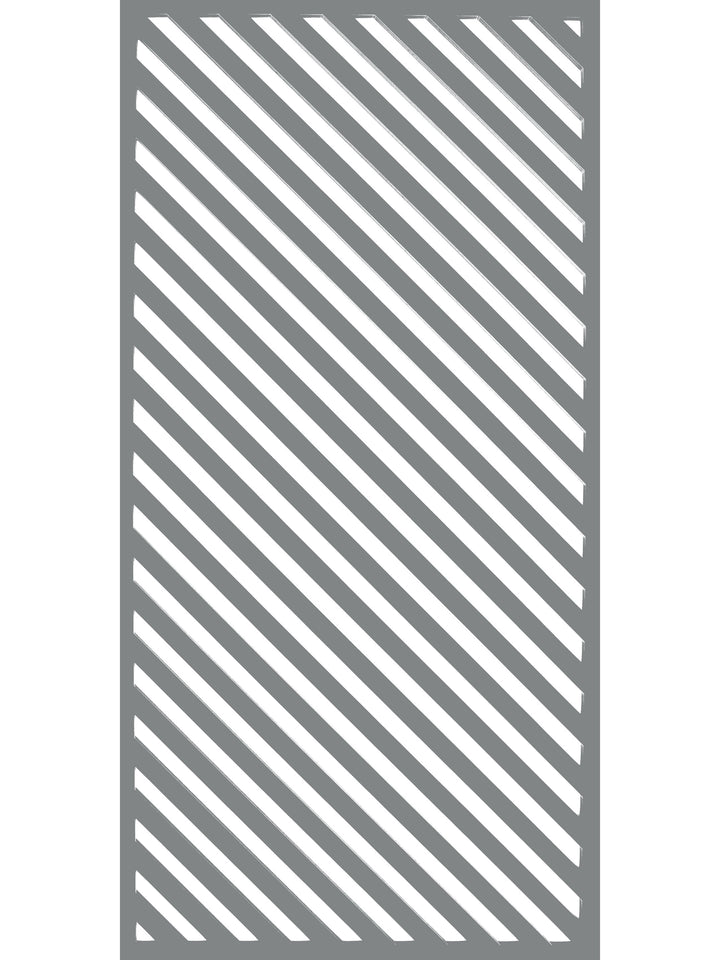 Vector - Dove Grey - Large Garden Screen