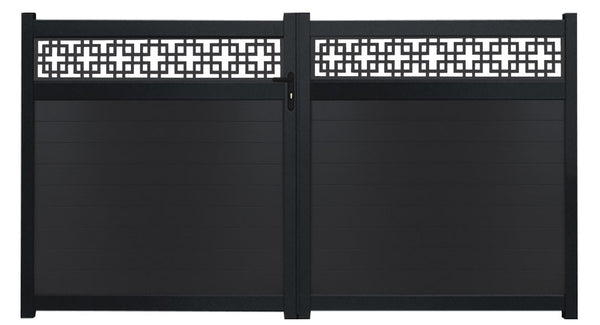 Cubed Trellis Driveway Gate - Anthracite